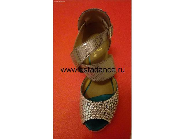Туфли для латины со стразами